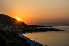 Wschodu słońca wzgórze Obrazy Royalty Free