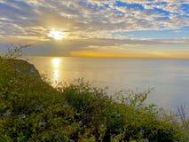 Wschodu słońca zachodnie wybrzeże Kalifornia USA Obraz Stock
