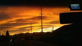 Wschodu słońca zakotwienie Alaska Obraz Royalty Free