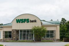 WSFS银行前面, 免版税库存图片