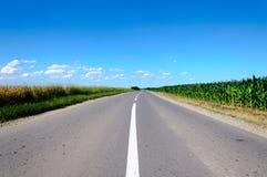 wsi droga zdjęcie stock