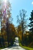 Wsi droga natura w jesieni zdjęcie royalty free