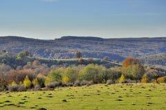 Wsi jesieni krajobraz Zdjęcia Stock