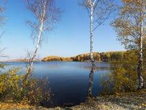 Wsi jesieni krajobraz Obrazy Stock