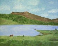 wsi jezioro Fotografia Royalty Free