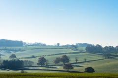Wsi Lanscape widok w Zjednoczone Królestwo fotografia stock