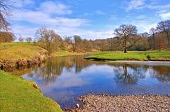 wsi rzeka Fotografia Royalty Free