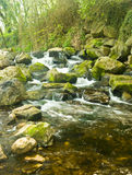 wsi rzeki skała posypująca Zdjęcia Stock
