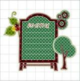wsiada ilustracj menu patchwork Fotografia Royalty Free