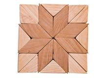wsiada kwadratowy drewnianego Zdjęcie Royalty Free