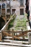 Wsiadający przerastający kamienny schody zdjęcia stock