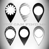 Wskaźnik karta ustawiających 6 ikon Obrazy Royalty Free