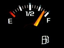 wskaźnik paliwa samochodu zdjęcia stock