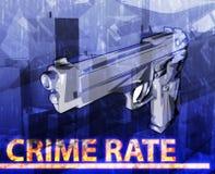Wskaźnika przestępczości abstrakcjonistycznego pojęcia cyfrowa ilustracja Obraz Stock