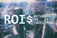 Wskaźnika Rentowności zarządzania finansami dochodu pojęcie Wirtualny parawanowy tło zdjęcia royalty free