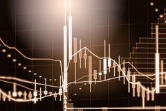 Wskaźnika wykres rynku papierów wartościowych wskaźnika pieniężna analiza na DOWODZONYM Obrazy Royalty Free