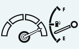Wskaźnik. Benzynowy zbiornik Obraz Stock