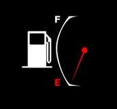 wskaźnik paliwa pusty Fotografia Stock
