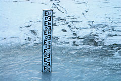 wskaźnik poziomu wody. Fotografia Stock
