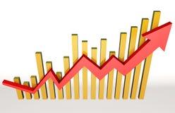 Wskaźniki ekonomiczni ilustracja wektor