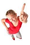 wskazać młodych kobiet Zdjęcia Stock