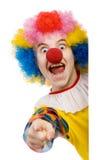 wskazać klaunów Obraz Royalty Free