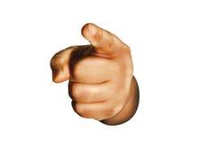 wskazać palec Zdjęcie Stock
