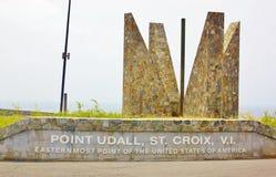 Wskazuje udall st croix usvi easternmost usa Fotografia Stock