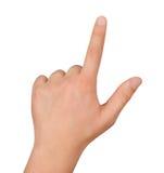 Wskazywać rękę Obrazy Royalty Free
