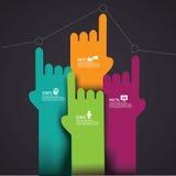 Wskazywać ręki Infographic elementu EPS 10 wektor Fotografia Royalty Free