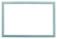 Wąski błękitny drewno rzeźbiąca obrazek rama Zdjęcie Royalty Free