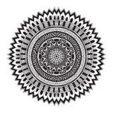 Współczesnego doily round koronkowy kwiecisty wzór ilustracji