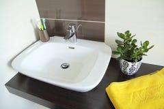 Współczesny łazienka zlew Obraz Royalty Free