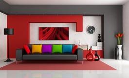 współczesny żywy pokój Fotografia Royalty Free
