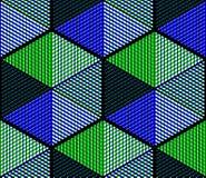 Współczesny abstrakcjonistyczny niekończący się EPS10 tło, three-dimensiona Obrazy Royalty Free