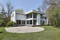 współczesny domowy tylni widok Zdjęcie Stock