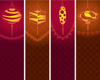 Współczesny lampionu tła ilustraci set Obraz Royalty Free