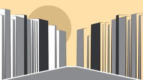 Współczesny miastowy krajobraz royalty ilustracja