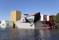 Współczesny muzeum w Groningen holandie obraz stock