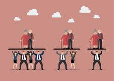Współczynnik pracownicy emeryci ilustracji
