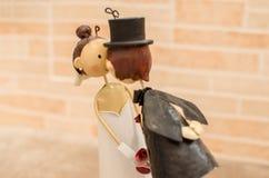 Współmałżonkowie poślubia przysługi bonbonniere Fotografia Stock