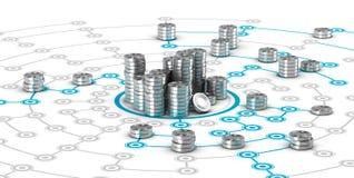 Współpracujący finanse, Crowdfunding ilustracji