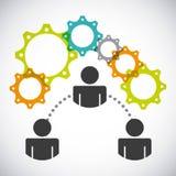 Współpracujący ludzie projektów ilustracja wektor