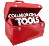 Współpracujący narzędzia Toolbox ilustracja wektor