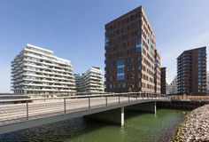 Współczesna architektura przy Aarhus, Dani Obrazy Stock