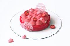 Współczesny Truskawkowy Mousse tort Obraz Stock
