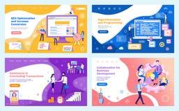 Współpraca rozwój biznesu, Spotyka royalty ilustracja