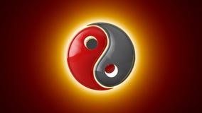 Wspólna penetracja Yin Yang wspólny dodatek dwa przeciwieństwa Wschodnia kultura i filozofia artystyczna tło 3D animati zdjęcie wideo