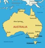 Wspólnota Narodów Australia - mapa Obraz Stock