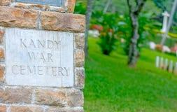 Wspólnota Narodów wojenny cmentarz W Sri Lanka Fotografia Stock
